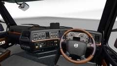 Чёрно-коричневый интерьер Volvo