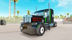 Скин Black Metallic Stripes на тягач Peterbilt