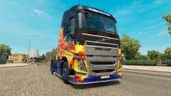 Скин Blue Fire на тягач Volvo