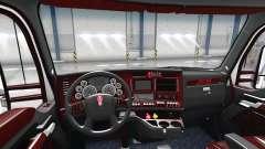 Люксовый чёрный интерьер Kenworth T680