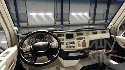 Переработанный интерьер в Peterbilt 579 для American Truck Simulator