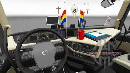 Обновлённые интерьеры Volvo FH для Euro Truck Simulator 2