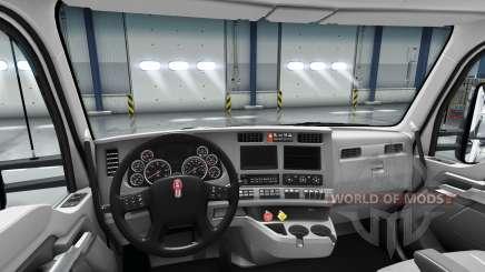 Переработанный интерьер Kenworth T680 для American Truck Simulator