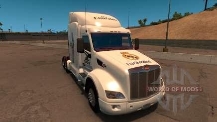 Peterbilt 579 Real Madrid Skin для American Truck Simulator
