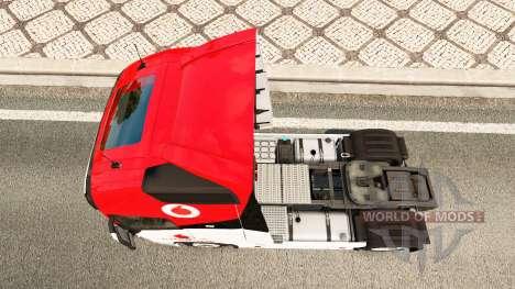 Скин Vodafone Racing на тягач Volvo для Euro Truck Simulator 2