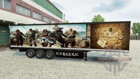 Скин Assassins Creed IV на полуприцеп для Euro Truck Simulator 2