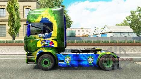 Скин Brasil на тягач Scania для Euro Truck Simulator 2