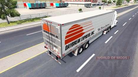 Скин Daybreak Express на полуприцеп для American Truck Simulator