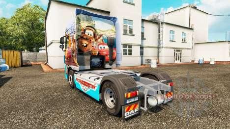 Скин Cars v2.0 на тягач DAF для Euro Truck Simulator 2