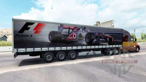 Скин Формула-1 на полуприцеп для American Truck Simulator