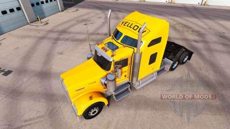 Скин Yellow Inc. на тягачи Peterbilt и Kenworth для American Truck Simulator