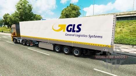 Автономный полуприцеп GLS для Euro Truck Simulator 2