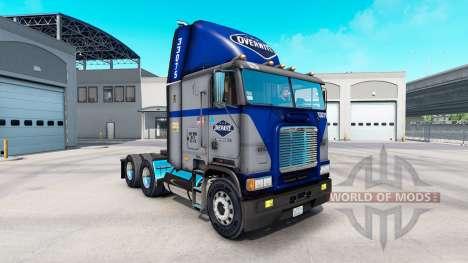 Скин Overnite на тягач Freightliner FLB для American Truck Simulator