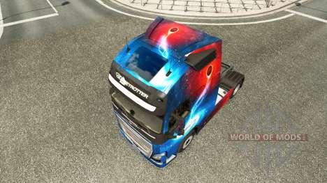 Скин Galaxy на тягач Volvo для Euro Truck Simulator 2
