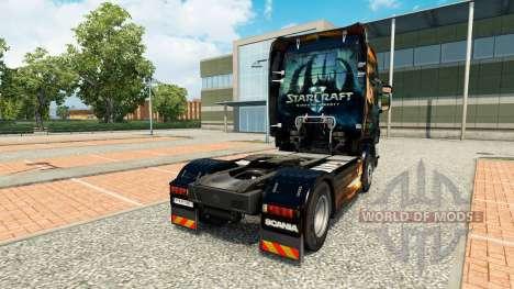 Скин Starcraft 2 на тягач Scania для Euro Truck Simulator 2
