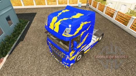 Скин Blue-yellow на тягач DAF для Euro Truck Simulator 2