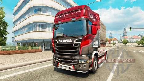 Скин King of the Road на тягач Scania для Euro Truck Simulator 2