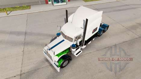Скин Green Goblin на тягач Peterbilt 389 для American Truck Simulator
