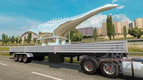 Полуприцеп Statue of Dinosaur для Euro Truck Simulator 2