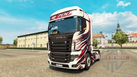 Скин MT Design на тягач Scania R700 для Euro Truck Simulator 2
