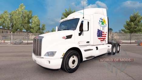 Скин Scotland American на тягач Peterbilt для American Truck Simulator