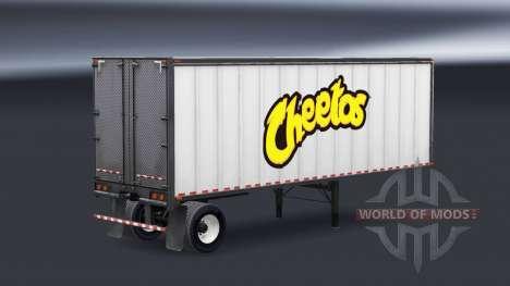 Цельнометаллический полуприцеп Cheetos для American Truck Simulator