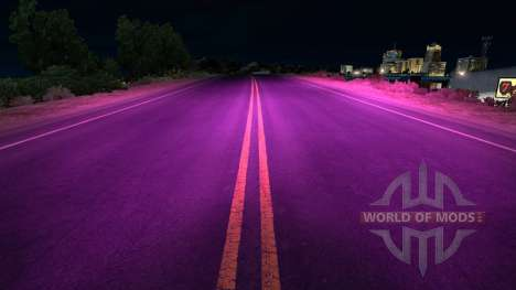 Сиреневый ксеноновый свет для American Truck Simulator