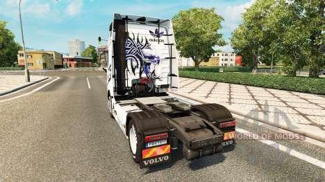 Скин Adidas на тягач Volvo для Euro Truck Simulator 2