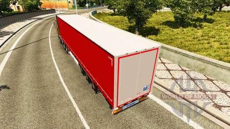 Полуприцеп шторный Krone для Euro Truck Simulator 2