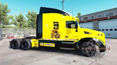 Скин Caterpillar на тягач Peterbilt для American Truck Simulator