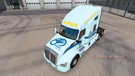 Скин Werner на тягач Kenworth для American Truck Simulator
