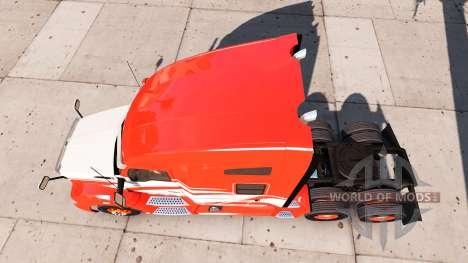 Скин Red Stripe на тягач Kenworth для American Truck Simulator