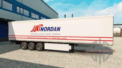 Скин Nordan на полуприцеп для Euro Truck Simulator 2