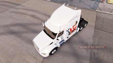 Скин Rocky Balboa на тягач Peterbilt для American Truck Simulator