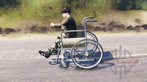 Кресло-каталка для Spin Tires
