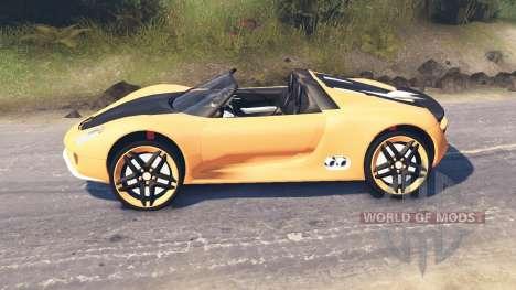 Porsche Carrera для Spin Tires