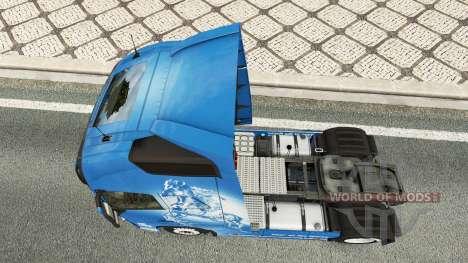 Скин Year of the Horse на тягач Volvo для Euro Truck Simulator 2