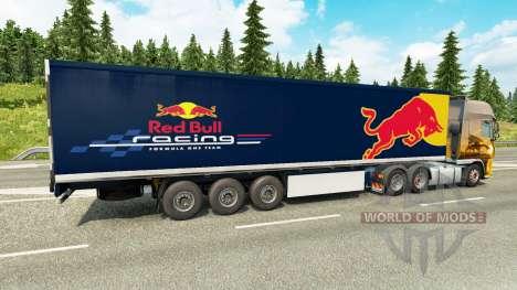Скин Red Bull на полуприцеп для Euro Truck Simulator 2