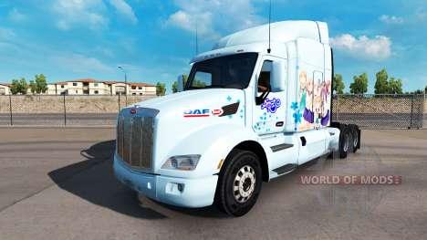 Скин Yuyushiki на тягач Peterbilt для American Truck Simulator