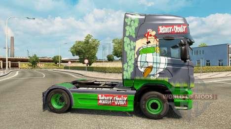 Скин Asterix на тягач Scania для Euro Truck Simulator 2
