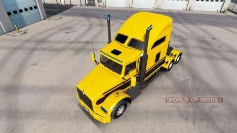 Скин Stripes v5.0 на тягач Kenworth T800 для American Truck Simulator