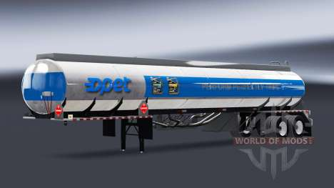 Скины топливных компаний на полуприцепы цистерны для American Truck Simulator