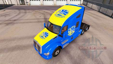 Скин Golden State Warriors на тягач Kenworth для American Truck Simulator