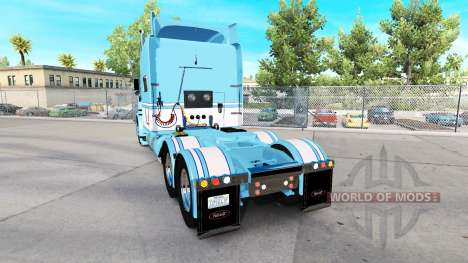 Скин Light Blue-White на тягач Peterbilt 389 для American Truck Simulator