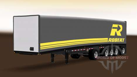 Полуприцеп Mac Curtain Multiaxles для American Truck Simulator