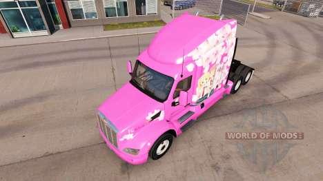 Скин Sakura на тягач Peterbilt для American Truck Simulator