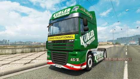 Скин Kubler Spedition на тягач DAF для Euro Truck Simulator 2