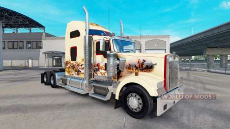 Скин Indian Spirit на тягач Kenworth W900 для American Truck Simulator