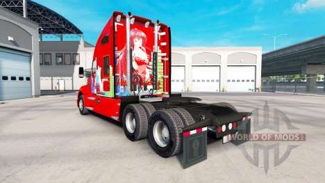 Скин Rias Gremory на тягач Kenworth для American Truck Simulator