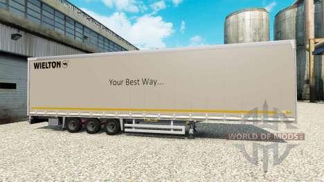 Шторный полуприцеп Wielton для Euro Truck Simulator 2